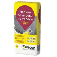 Еластично лепило за плочки weber.col Флекс F625 , 10 кг.