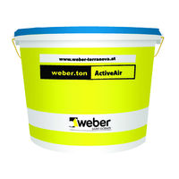 Фасадна боя с матова повърхност weber.ton ActiveAir , 25 кг.