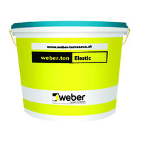 Еластична фасадна боя weber.ton Elastic , 25 кг.