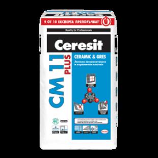 Лепило за гранитогрес и керамични плочки Ceresit CM 11 PLUS , 25 кг.