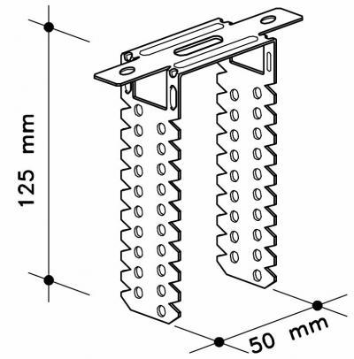 Директен окачвач за дървени летви 50/125 mm , Knauf