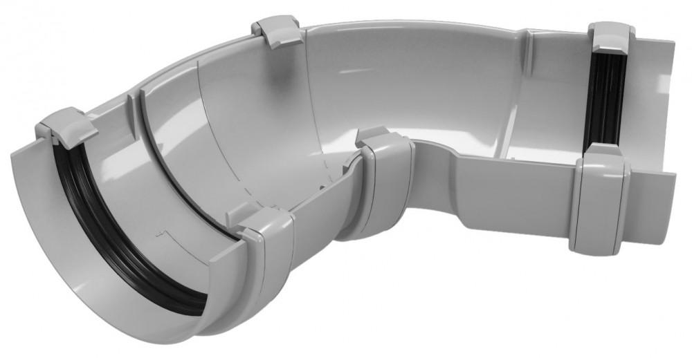 CLASSIC 120 PVC - Бежов , Бял , Керемиден , Бордо , Кафяв , Сив , Черен Универсален ъгъл за улук 60°-160°