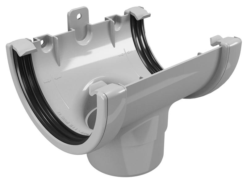 CLASSIC 120 PVC - Бежов , Бял , Керемиден , Бордо , Кафяв , Сив , Черен Снадка с дренаж Ø80