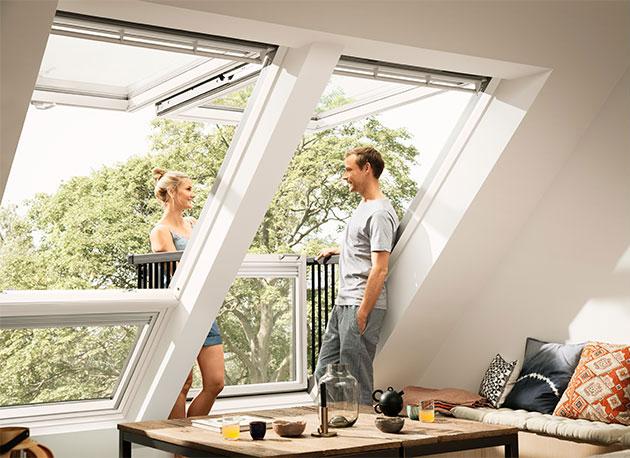 Покривен прозорец-балкон VELUX Cabrio®