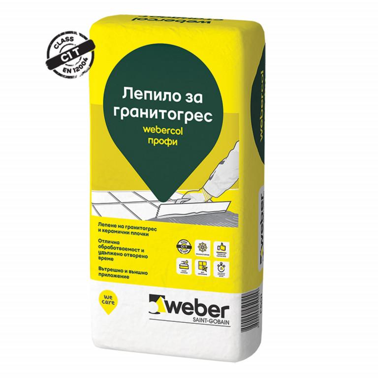 Лепило за гранитогрес webercol профи , F601 , 25 кг.