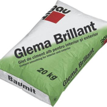 Циментова бяла шпакловка Baumit GlemaBrillant