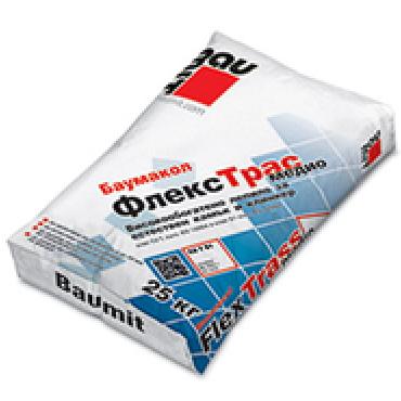 Флексово лепило за плочки и камъни Baumacol FlexTrass medio