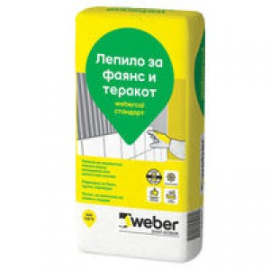 Лепило за фаянс и теракот weber.col Стандарт - F600