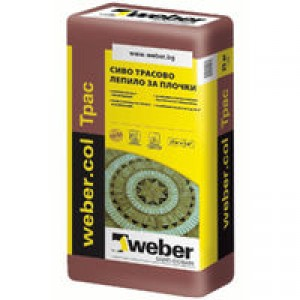 Лепило за естествен камък weber.col Трас F609 , 25 кг.