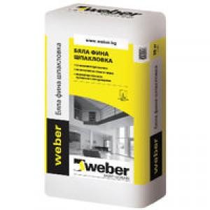 Бяла фина шпакловка weber C800 , 20 кг.