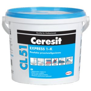 Еднокомпонентна алтернативна хидроизолация под плочки Ceresit CL 51 Express