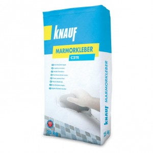 Бяло лепило за мрамор и естествен камък Knauf Marmorkleber
