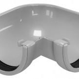 CLASSIC 120 PVC Ъгъл за улук 90° - Бежов , Бял , Керемиден , Бордо , Кафяв , Сив , Черен
