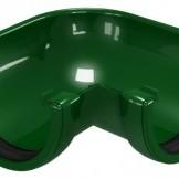 CLASSIC 120 PVC Ъгъл за улук 90° , Зелен