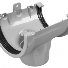 CLASSIC 120 PVC Снадка с дренаж Ø80 - Бежов , Бял , Керемиден , Бордо , Кафяв , Сив , Черен