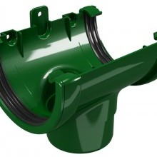 CLASSIC 120 PVC Снадка с дренаж Ø 80 - Зелен