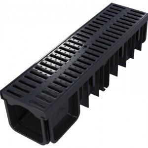Канал с пластмасова решетка (PP) 130/90