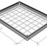 Капак за ревизионна шахта от алуминий Светъл отовор 900 x 900 мм.