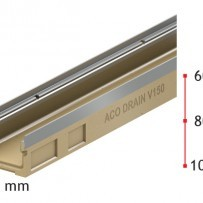 Нископрофилен улей ACO MultiDrain V 100 S , 10 см. , с отвор