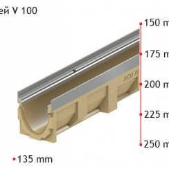 Улей ACO MultiDrain V 100 S 20.0.2 , 100 см./25 см. , с отвор