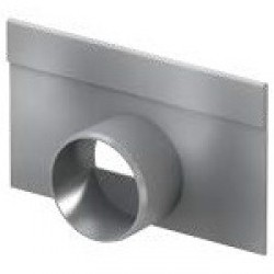 Челна плоча с изход за хоризонтално заустване за нископрофилен улей V 100 S , 6 см.
