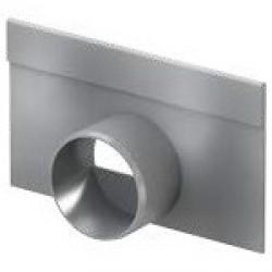 Челна плоча с изход за хоризонтално заустване за нископрофилен улей V 100 S , 10 см.