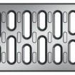 V 100 S решетка с напречни отвори неръждаема стомана , 100 см.