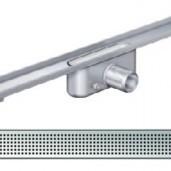Душ-канал без фланци и решетка от неръждаема стомана Square , 585 мм.