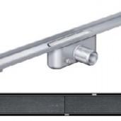 Душ-канал без фланци и решетка от неръждаема стомана Tile , 985 мм.