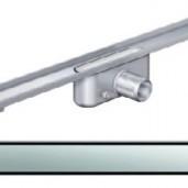 Душ-канал без фланци и решетка от неръждаема стомана Solid , 585 мм.