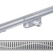 Душ-канал с хоризонтални фланци и решетка от неръждаема стомана Wave , 585 мм.