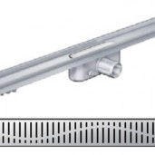Душ-канал с хоризонтални фланци и решетка от неръждаема стомана Wave , 785 мм.