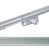 Душ-канал с хоризонтални фланци и решетка от неръждаема стомана Square , 985 мм.