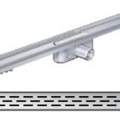 Душ-канал с хоризонтални фланци и решетка от неръждаема стомана Slot , 885 мм.