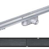 Душ-канал с хоризонтални фланци и решетка от неръждаема стомана Tile , 885 мм.