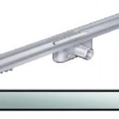 Душ-канал с хоризонтални фланци и решетка от неръждаема стомана Solid , 885 мм.