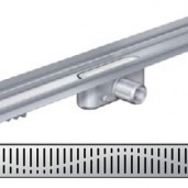 Душ-канал с вертикален фланец и решетка от неръждаема стомана Wave , 785 мм.