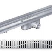 Душ-канал с вертикален фланец и решетка от неръждаема стомана Wave , 885 мм.