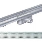 Душ-канал с вертикален фланец и решетка от неръждаема стомана Square , 585 мм.