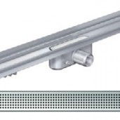 Душ-канал с вертикален фланец и решетка от неръждаема стомана Square , 985 мм.