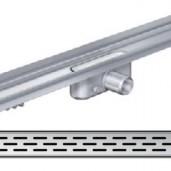 Душ-канал с вертикален фланец и решетка от неръждаема стомана Slot , 685 мм.
