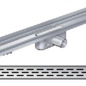 Душ-канал с вертикален фланец и решетка от неръждаема стомана Slot , 785 мм.
