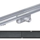 Душ-канал с вертикален фланец и решетка от неръждаема стомана Tile , 985 мм.