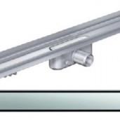 Душ-канал с вертикален фланец и решетка от неръждаема стомана Solid , 585 мм.