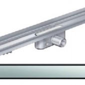 Душ-канал с вертикален фланец и решетка от неръждаема стомана Solid , 985 мм.