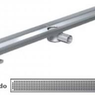 Душ-канали с хоризонтални фланци и решетка от неръждаема стомана Quadrato , 100 см.