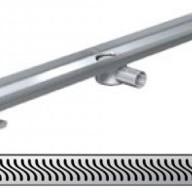 Душ-канали с хоризонтални фланци и решетка от неръждаема стомана Flag , 120 см.
