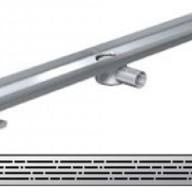 Душ-канали с хоризонтални фланци и решетка от неръждаема стомана Mix , 90 см.