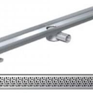 Душ-канали с хоризонтални фланци и решетка от неръждаема стомана Pixel , 80 см.