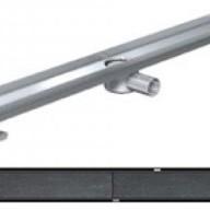 Душ-канали с хоризонтални фланци и решетка от неръждаема стомана Tile , 90 см.
